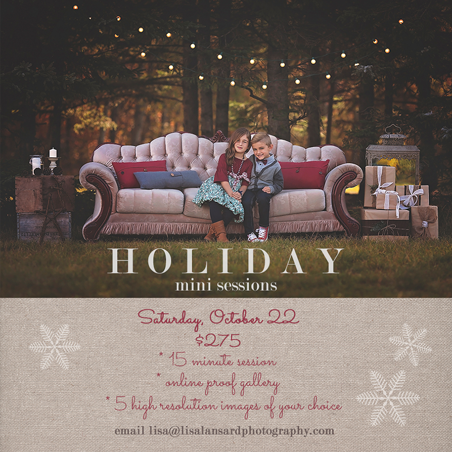 Winnipeg Holiday Mini Sessions Lisa Lansard Photography